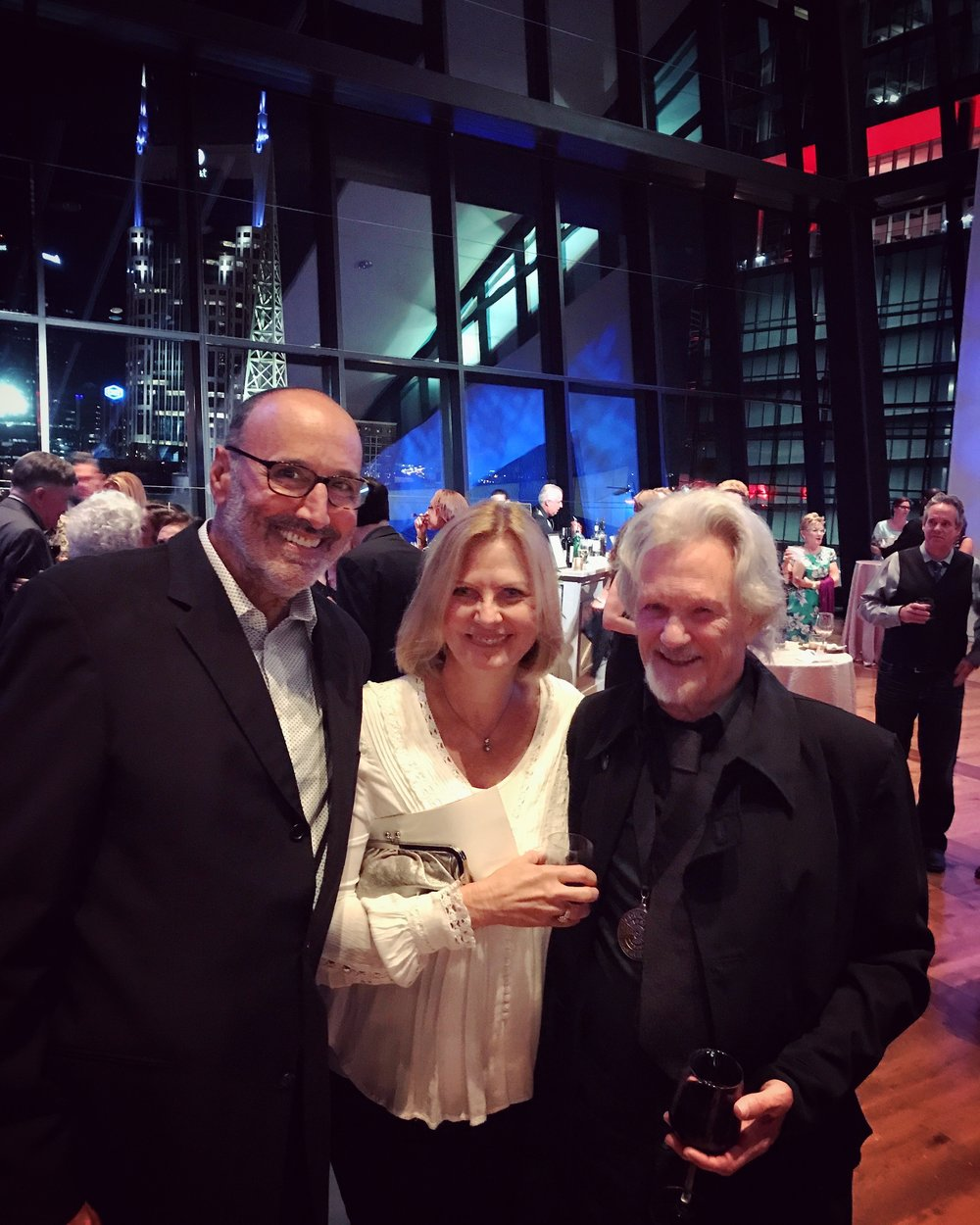 Mark and his wife Cindy with singer/songwriter/actor Kris Kristofferson