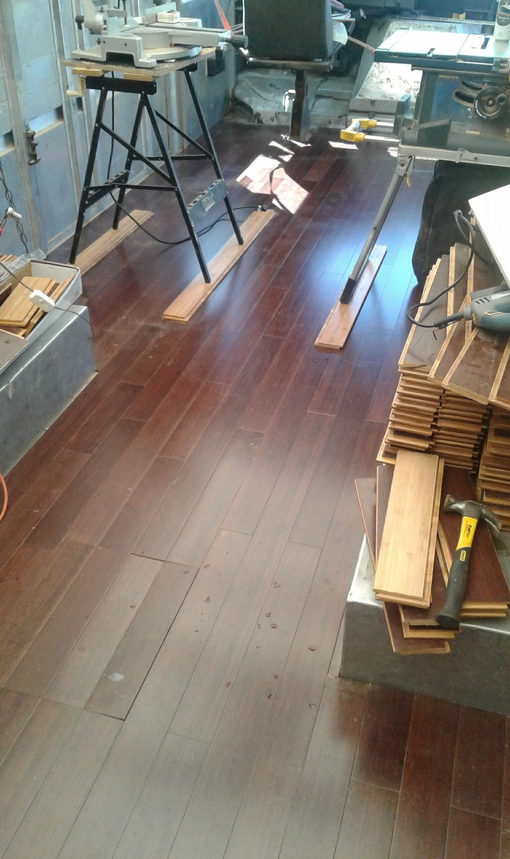 Reclaimed bamboo flooring? Don't mind if I do...  -
