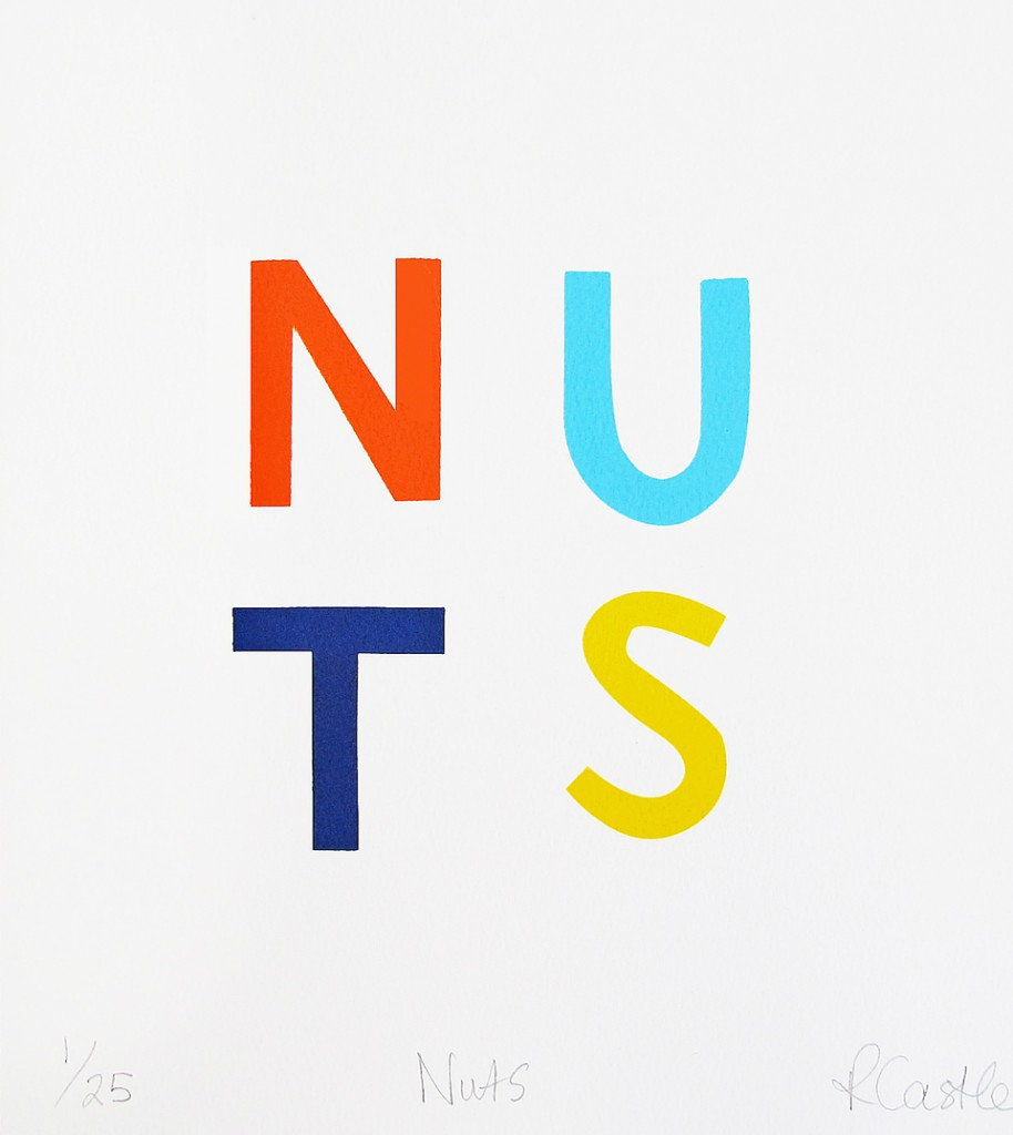 Castle + Things  Limited Edition 'Nuts' Screen Print.
