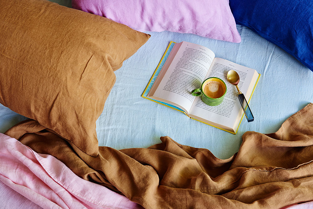 Kip&Co's collection of cotton, velvet and French linen sheets and pillowcases.