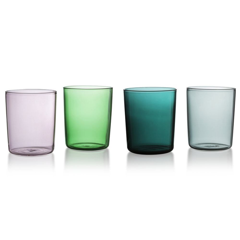 Maison Balzac Goblets  i n the prettiest hues - individually mouth-blown and heat and cold resistant.