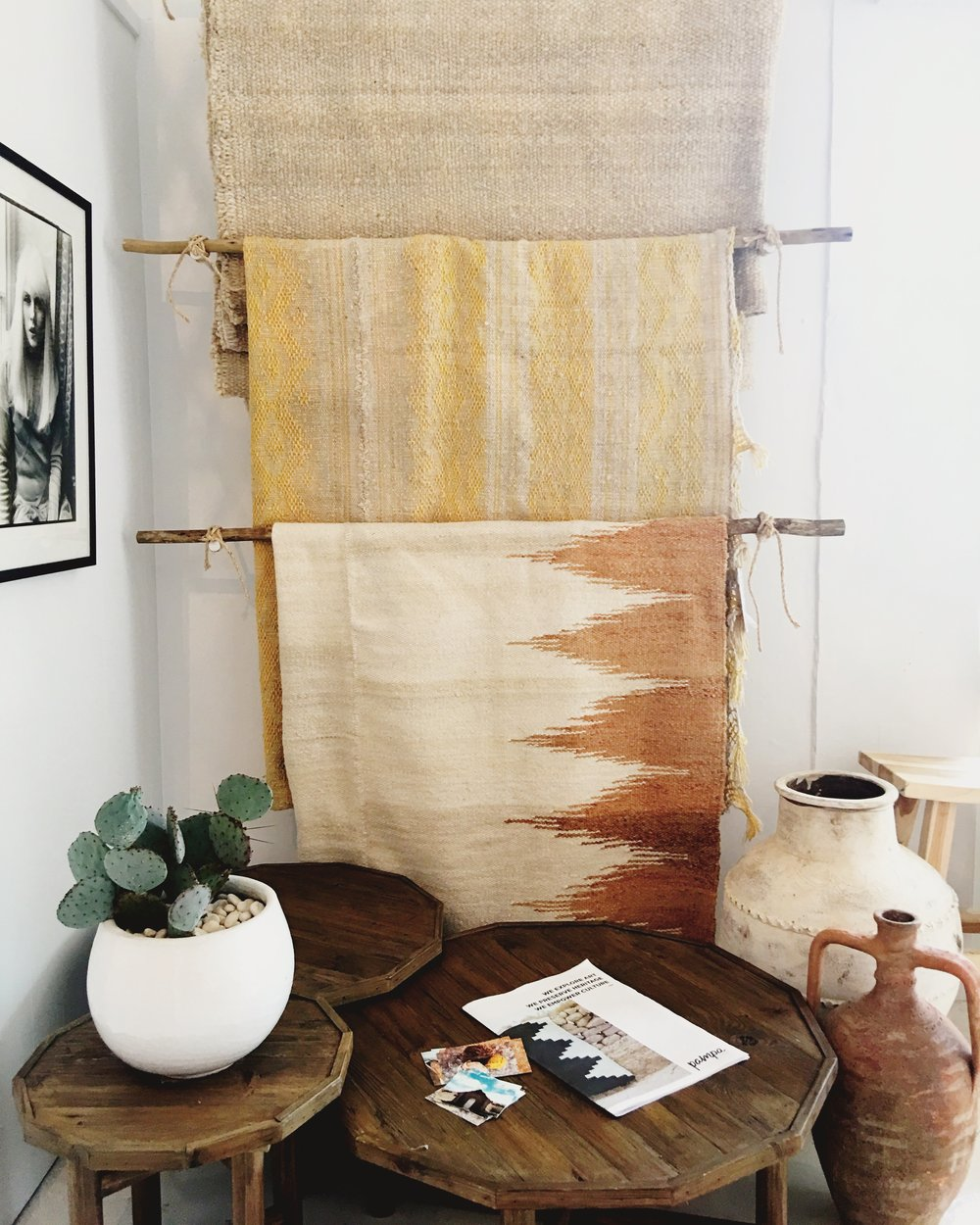Rugs by Pampa and furniture by Bisque are part of the Commune edit.
