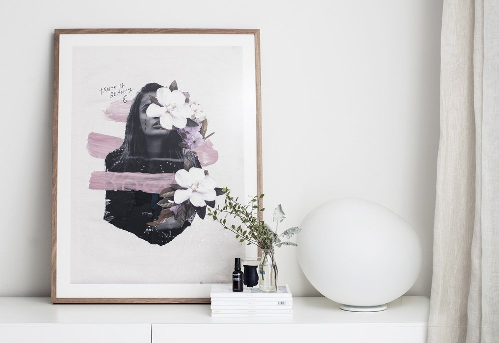 Truth Is Beauty  Art Print by Blacklist.