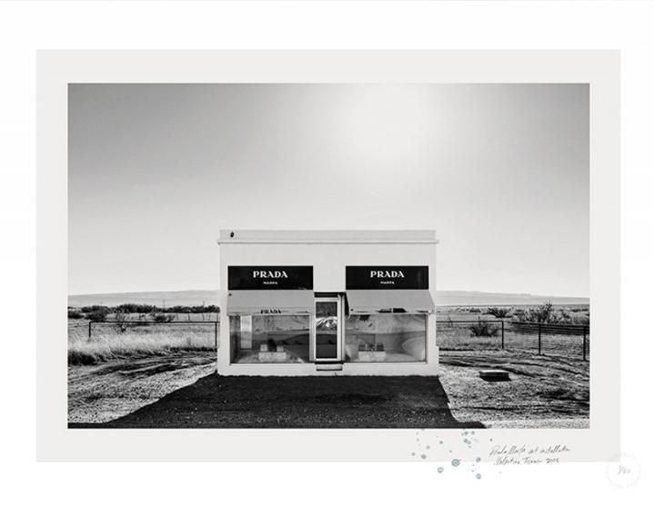 Desert Mall  Art Print by Blacklist.