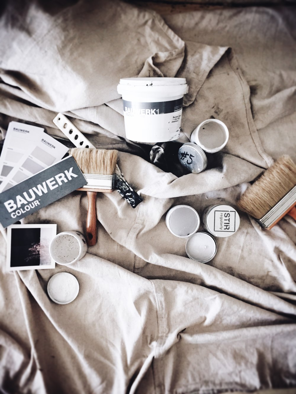 Lynda Gardener's paint range 'White' with boutique paint company  Bauwerk .