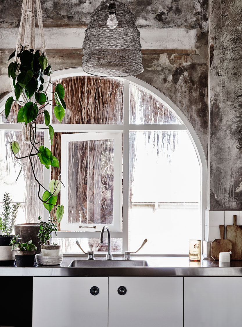 The beautiful arched windows in  The Apartment  in St Kilda. Photo - Lisa Cohen.
