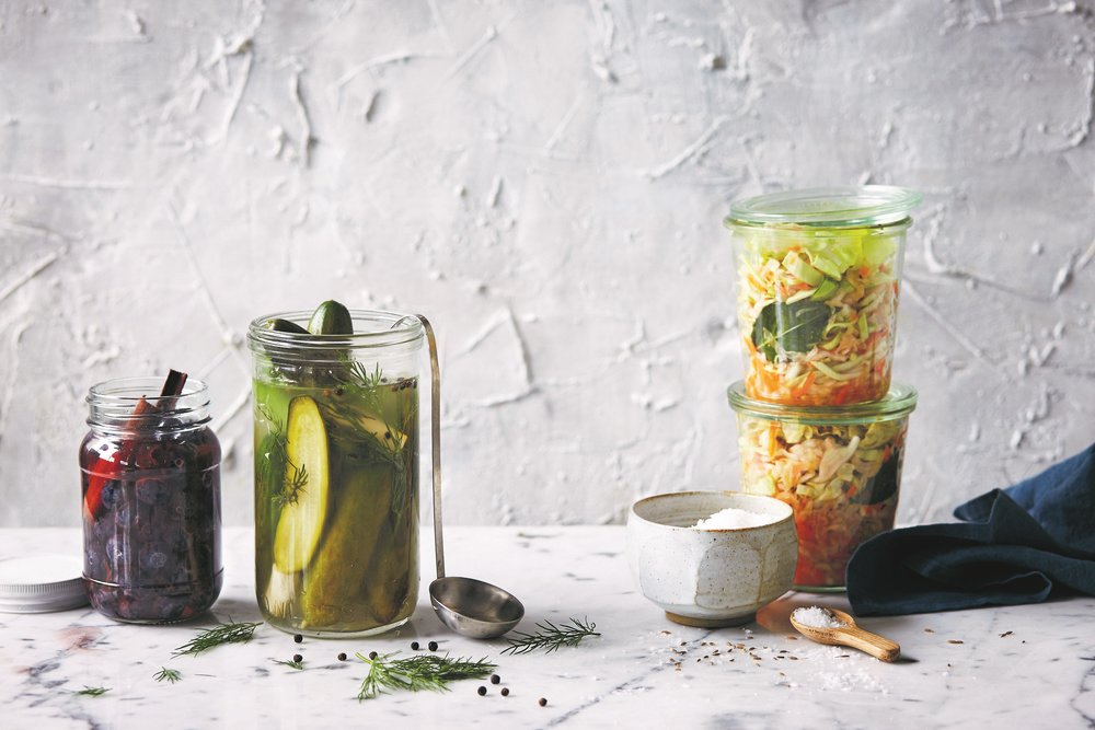 Rainy Pickles Three Ways - an extract from Happy and Whole. Image courtesy of Plum, photography by Rob Palmer.