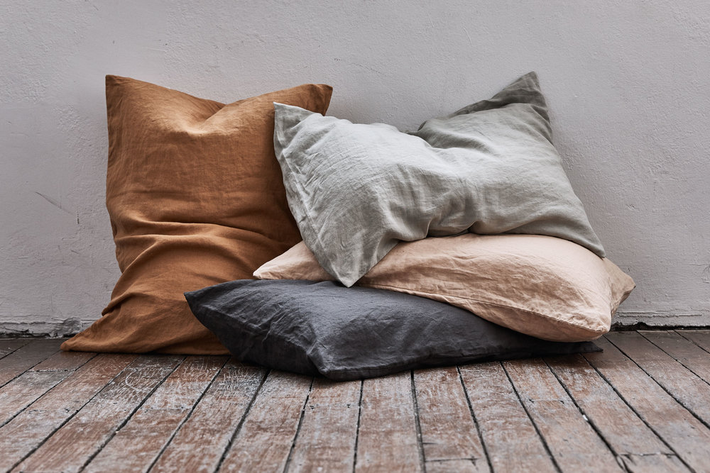 In Bed's four new beautiful colours - stone, kohl, clay and oat.