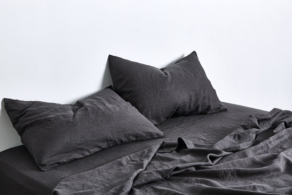The moody dark kohl colorway in the new  In Bed  collection.