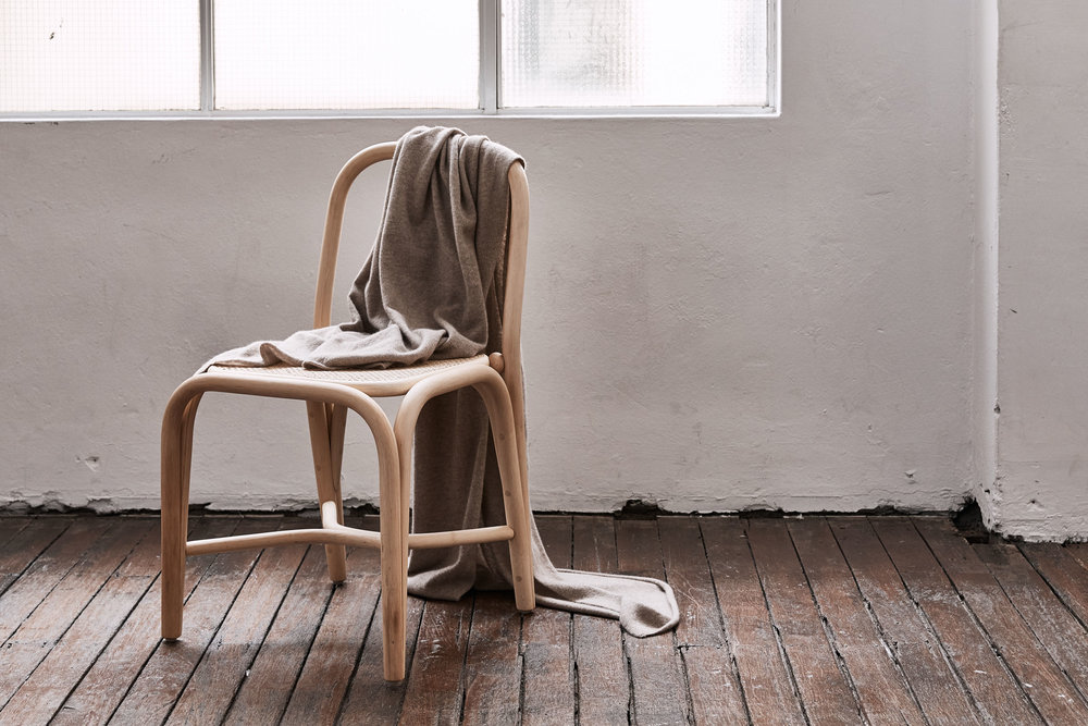 The  Cashmere Throw Rug  in Oatmeal from In Bed.