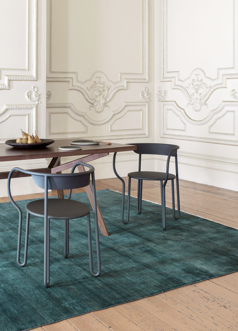 Armadillo & Co's  new Heirloom Collection rug, pictured in the Kingfisher colour option. Photo - Felix Forest.