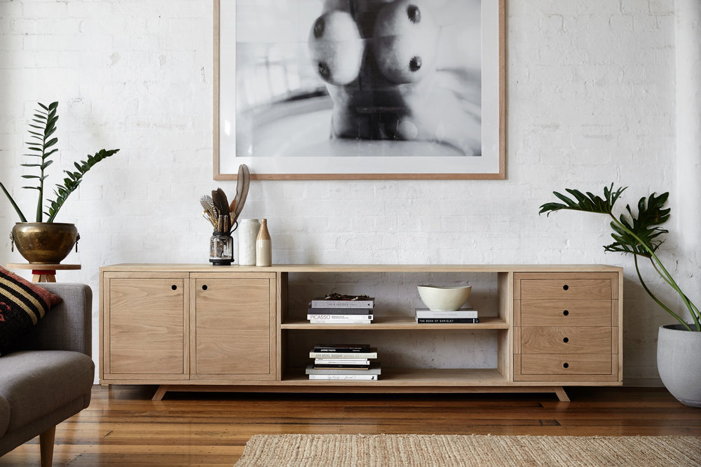 The beautifully crafted American Oak Sideboard by  Made by Morgen .