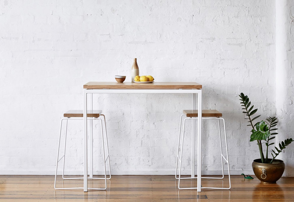 The  Made by Morgen  Table and Stools from the Shadow Line series.
