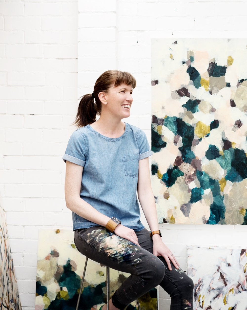 Melbourne-based artist Hannah Fox in her studio.