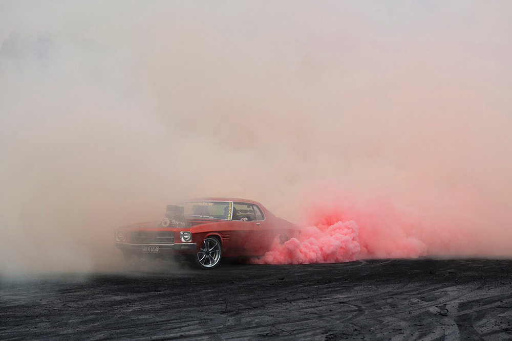 Simon Davidson's   Burnouts   series.