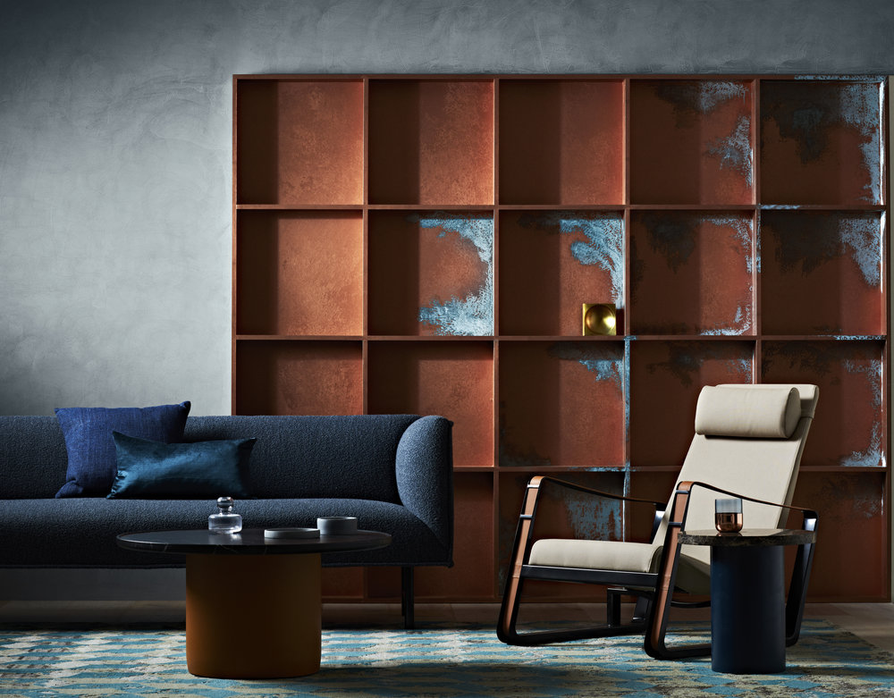 Dulux Copper Effect and Copper Patina. Styling by Bree Leech & Heather Nette King for  Dulux Design Effects Collection . Photo - Mike Baker.