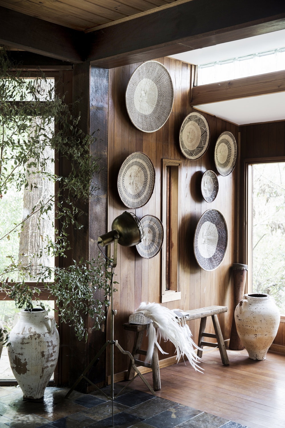 A corner of Natalie's home in the Yarrayong Valley. Styling - Natalie Walton. Photo - Chris Warnes.