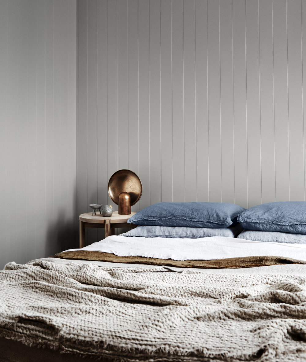 Dulux Colour Trends 2018  –  Essential Palette . A personal favourite, wall painted in Dulux Flooded Gum.