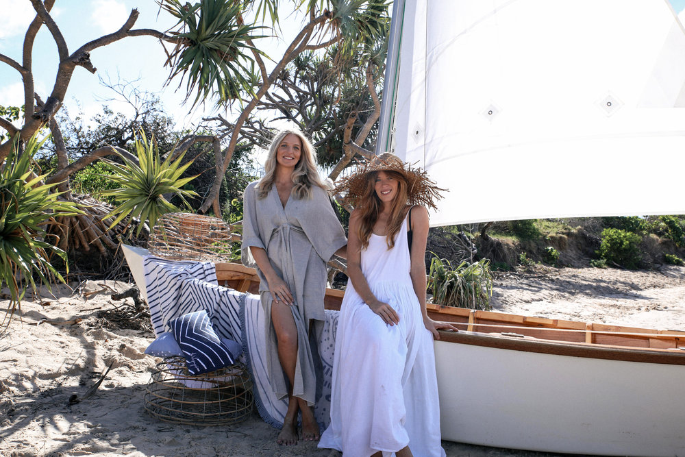 Sisters Emma Henderson and Victoria Beattie of  The Beach People  are mostly influenced by their beautiful beach surroundings.