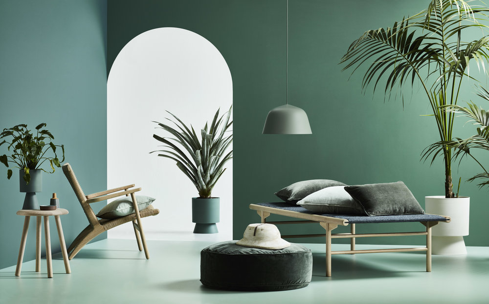 Le Jardin  by  Lightly  includes planters, soft furnishings and lighting.Styling - Heather Nette-King. Photography - Mike Baker.