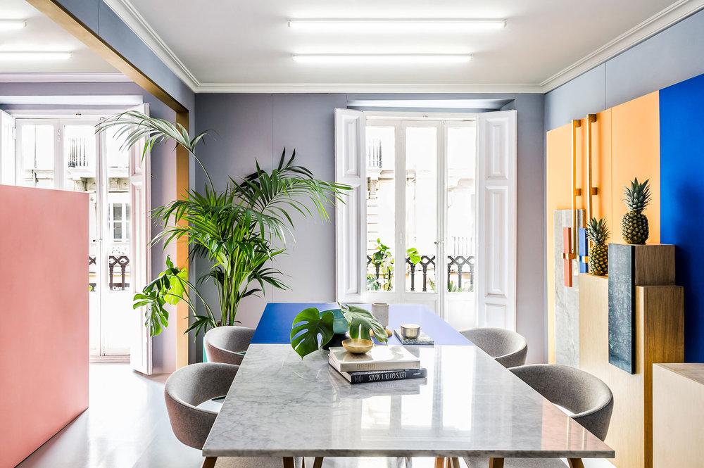 The Masquespacio studio in Madrid designed by  Masquespacio .