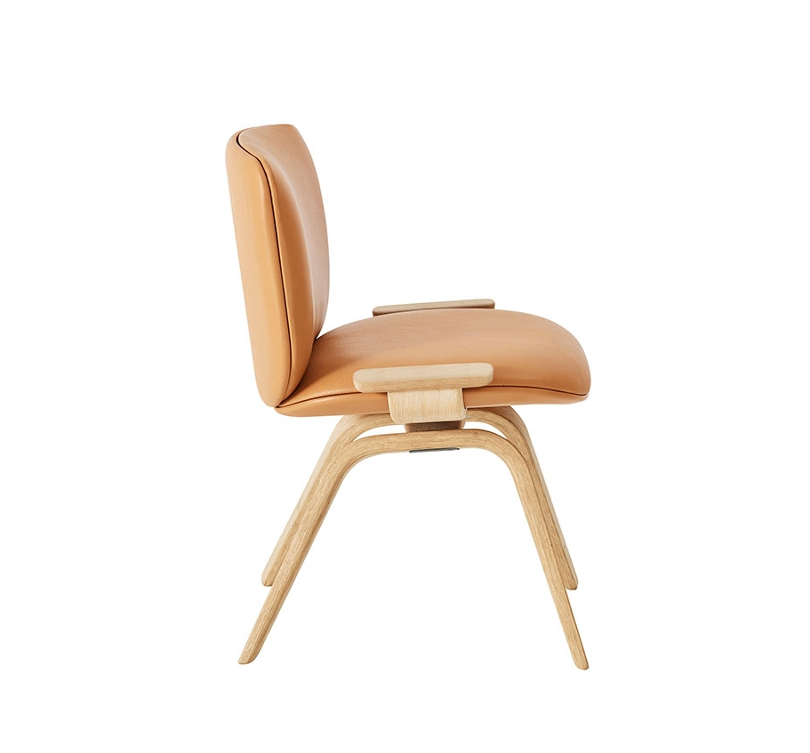 3 |   Guest Chair  in Tan Leather from  Fred International .