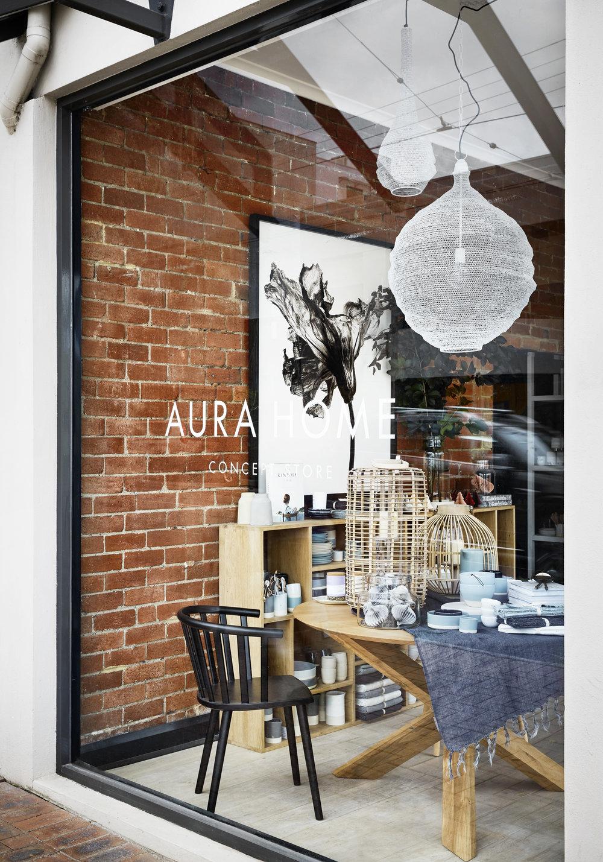 The shopfront at the new  AURA HOME  Malvern store. Photo - Tess Kelly.