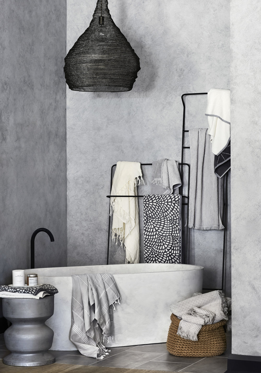 Bathroom bliss - experience textures and finishes at the new  AURA HOME  Malvern store. Photo - Tess Kelly.