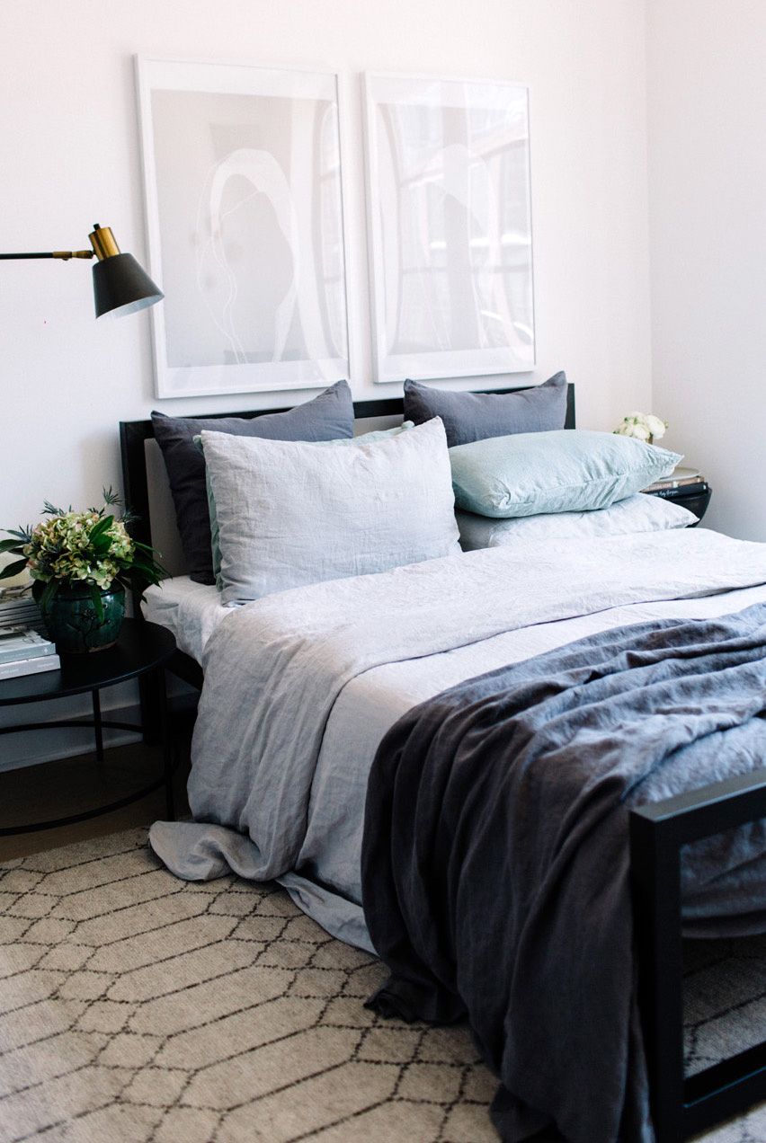 The Stylephiles'  Steph Waterman's bedroom in her Brooklyn apartment. Styling - Steph Waterman. Photo - Judith Rae.