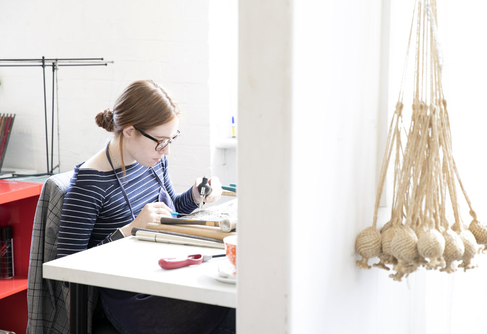 At work in the   Petite Grand   studio in Surry Hills. Photo - Simone Gillet. Styling - Hande Renshaw
