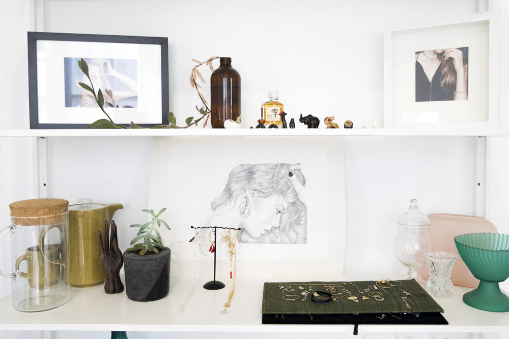 A little corner of the   Petite Grand   studio in Surry Hills. Photo - Simone Gillet. Styling - Hande Renshaw.