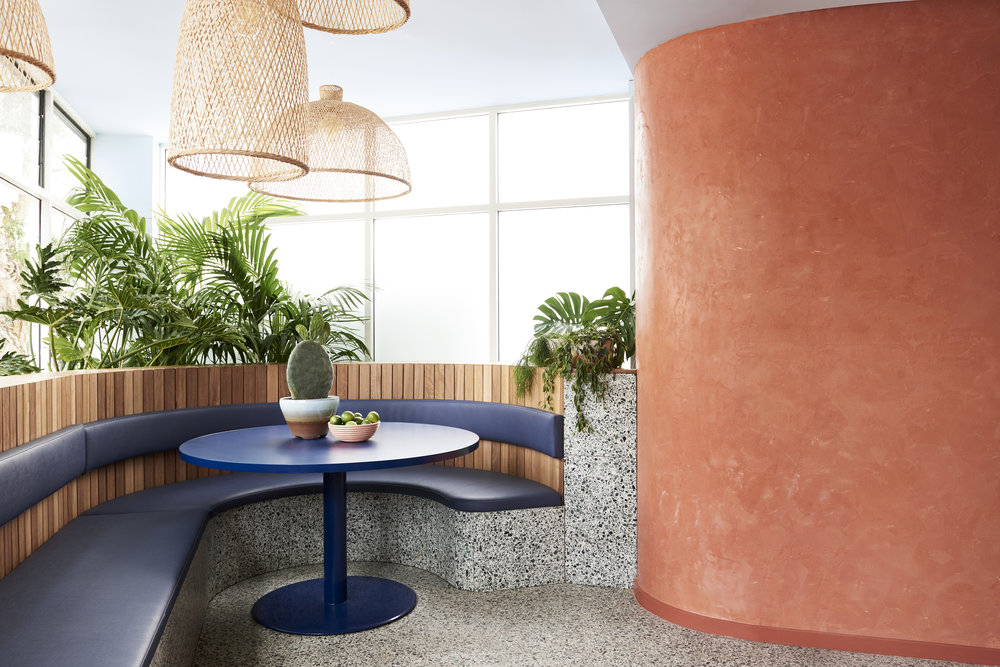 Ever-popular terrazzo makes many appearances in the interior designed by   Studio Esteta