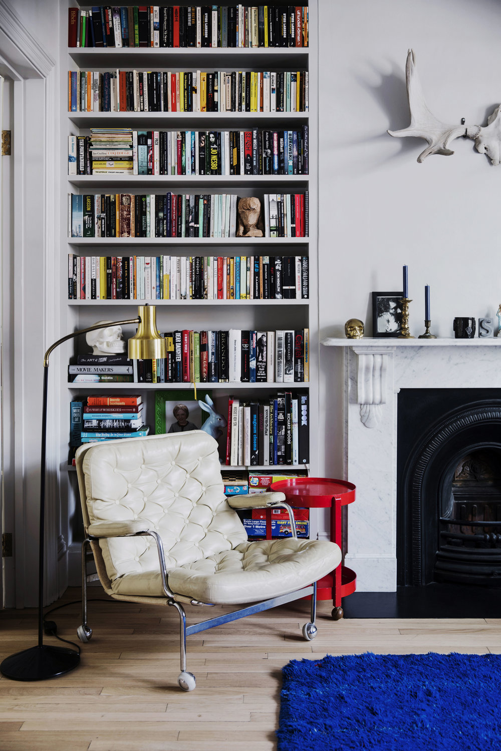 A corner of the home of Simone McEwan and Patrik Bergh in London, from  Natalie Walton's  new book  This Is Home . Photo- Chris Warnes.