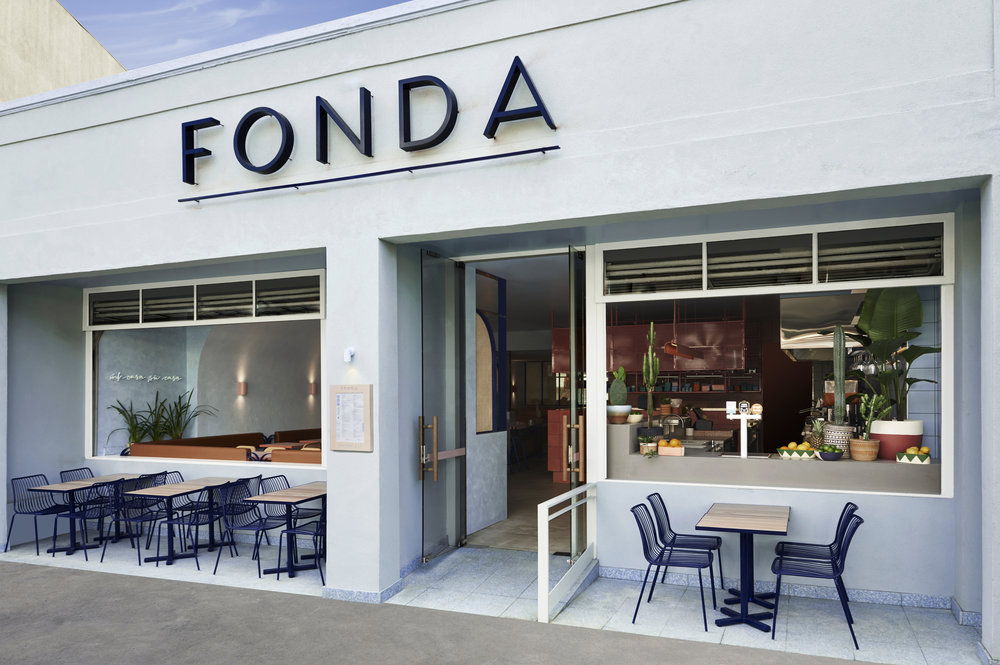 Designed by   Studio Esteta  Fonda  is located in Bondi, Sydney.