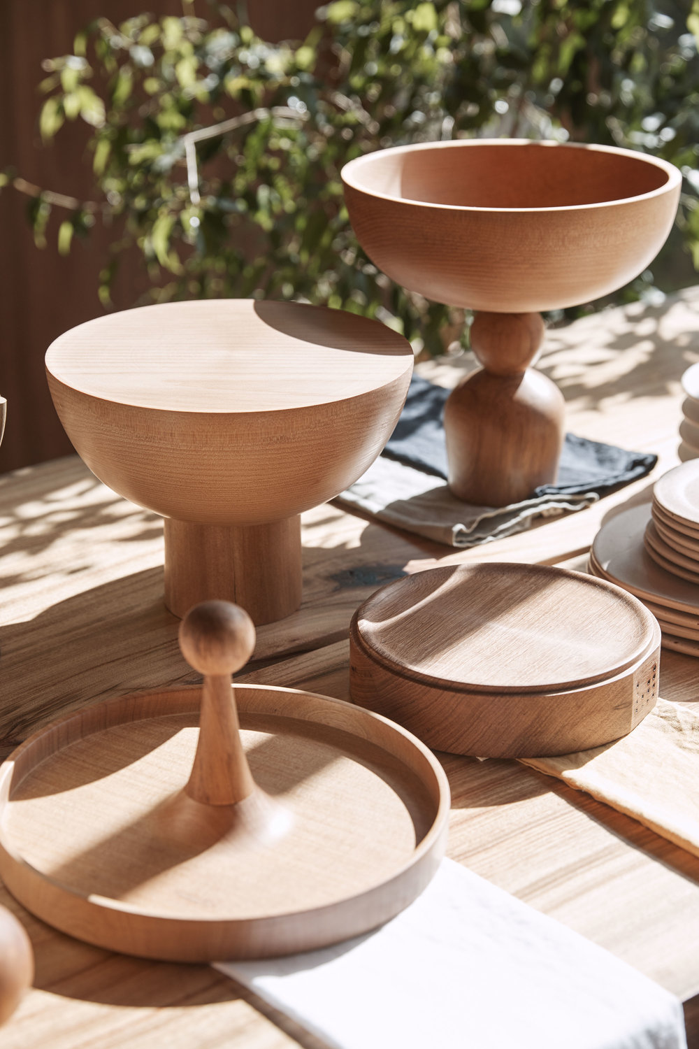 Beautiful wooden objects from  Walk In The Park . Photo - Terence Chin.