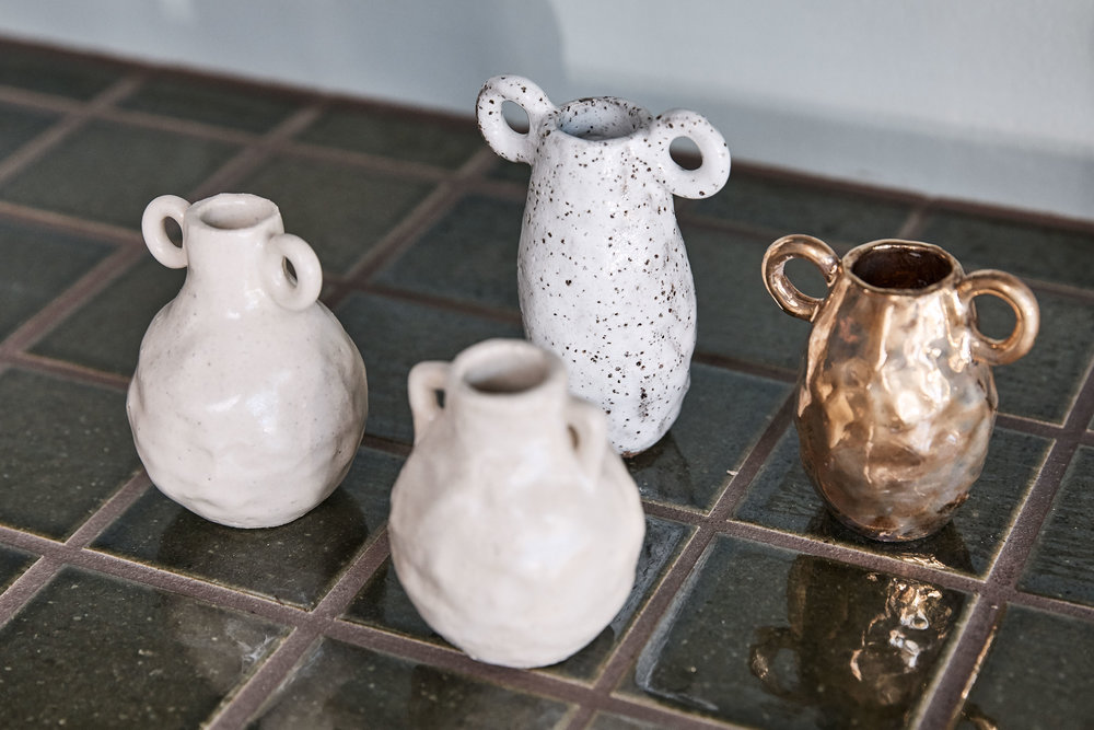 Ceramic objects by  Tara Burke  are available at the IN BED flagship store. Photo – Terence Chin.