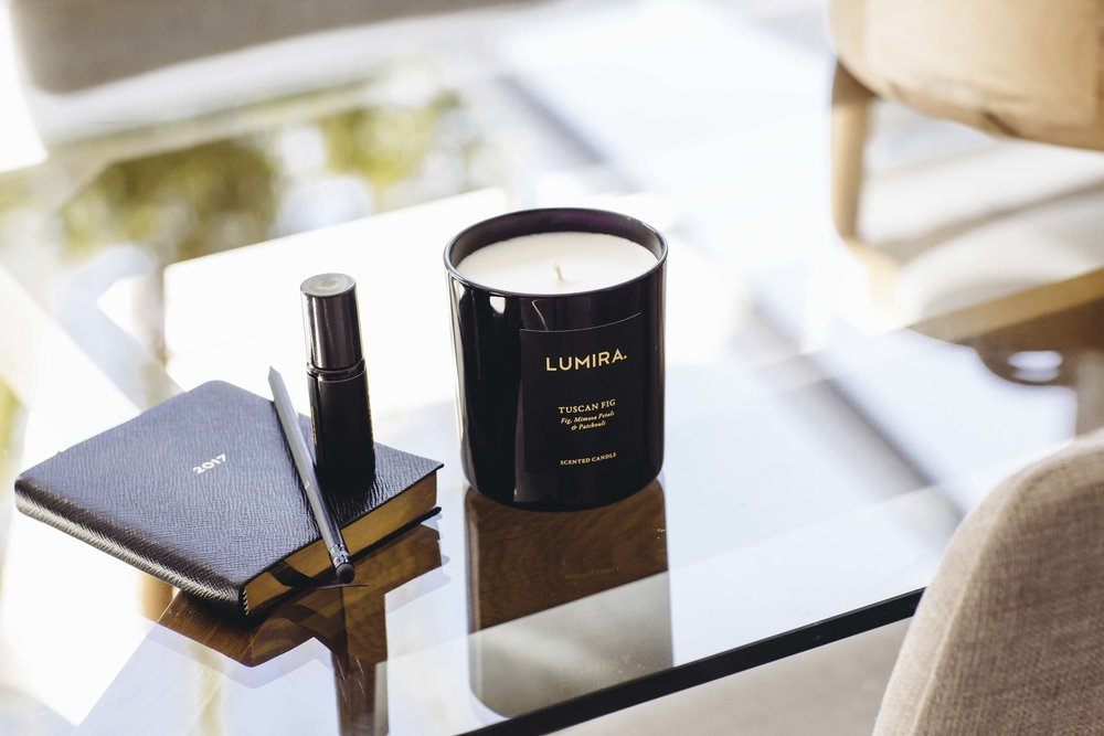 Lumira  Tuscan Fig Scented Candle.