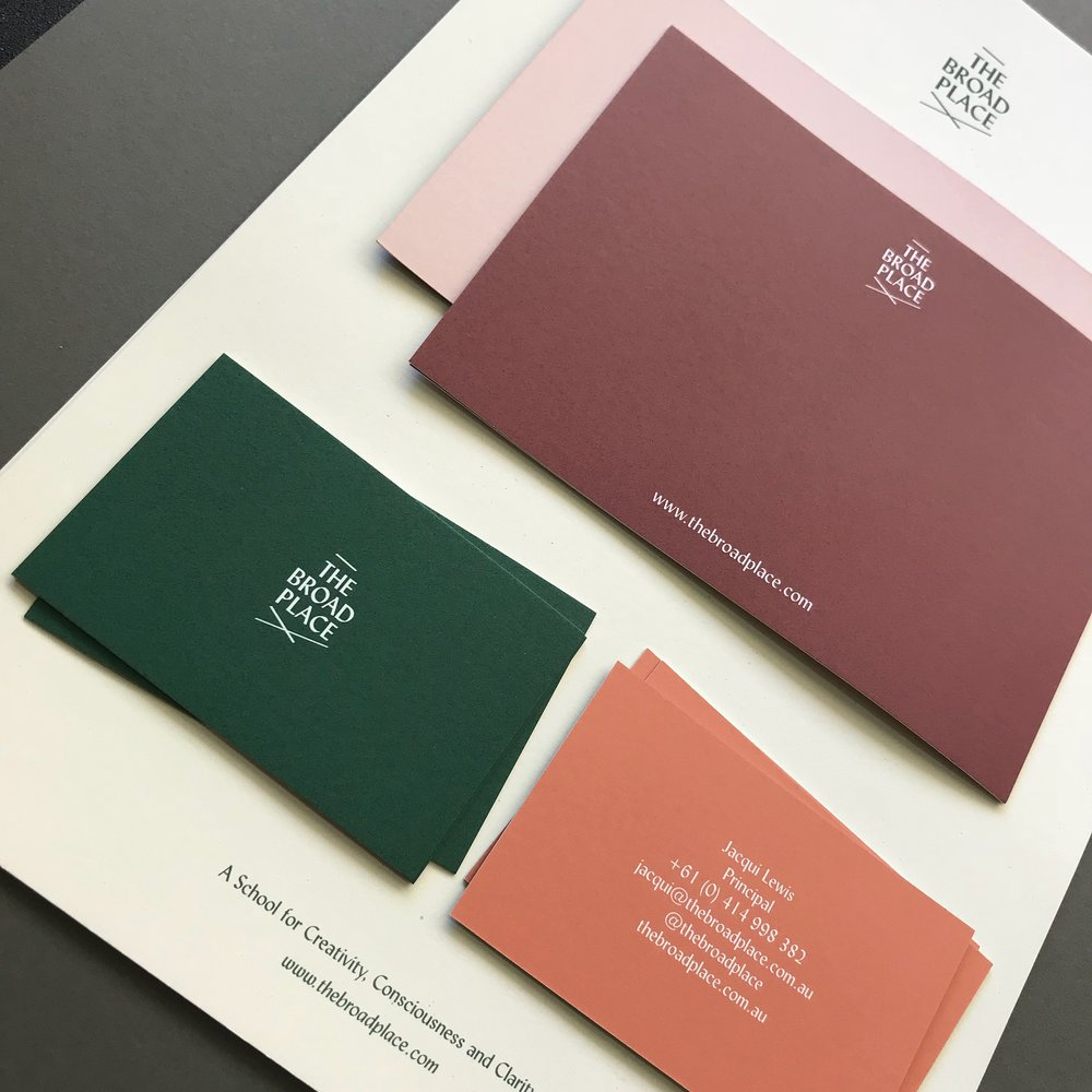 Printed material for The Broad Place by  Morgan Printing .
