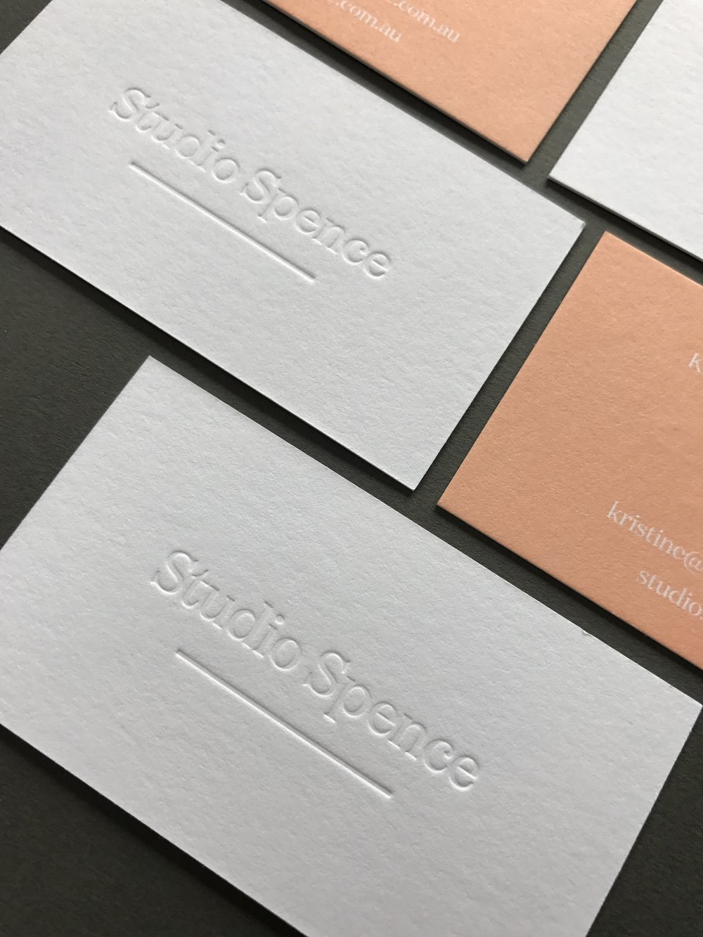 Studio Spence business cards printed by  Morgan Printing .