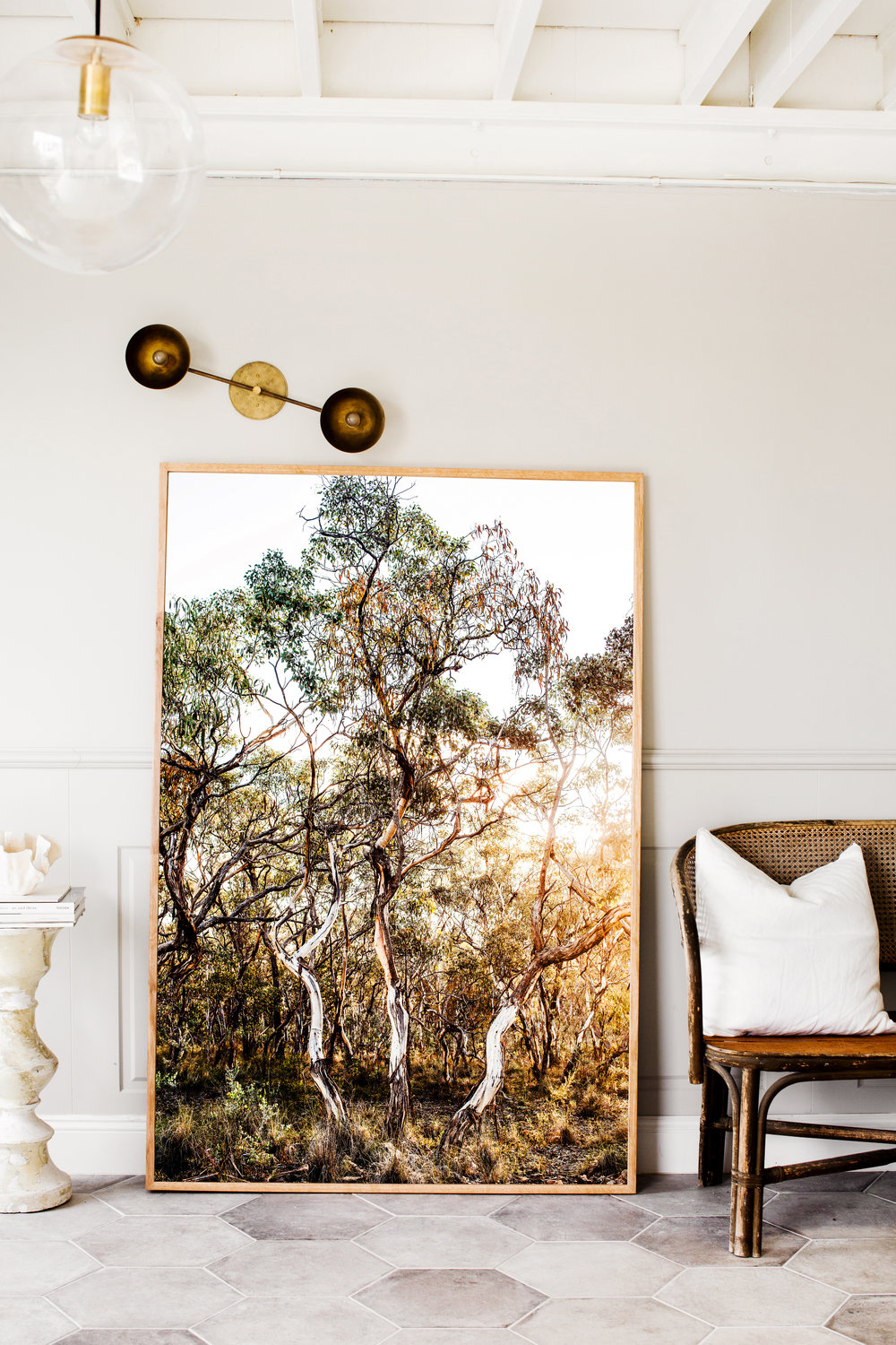 Bridle Track  in Extra Large, framed in Tasmanian Oak in Kara Rosenlund 's new Extra Large size.