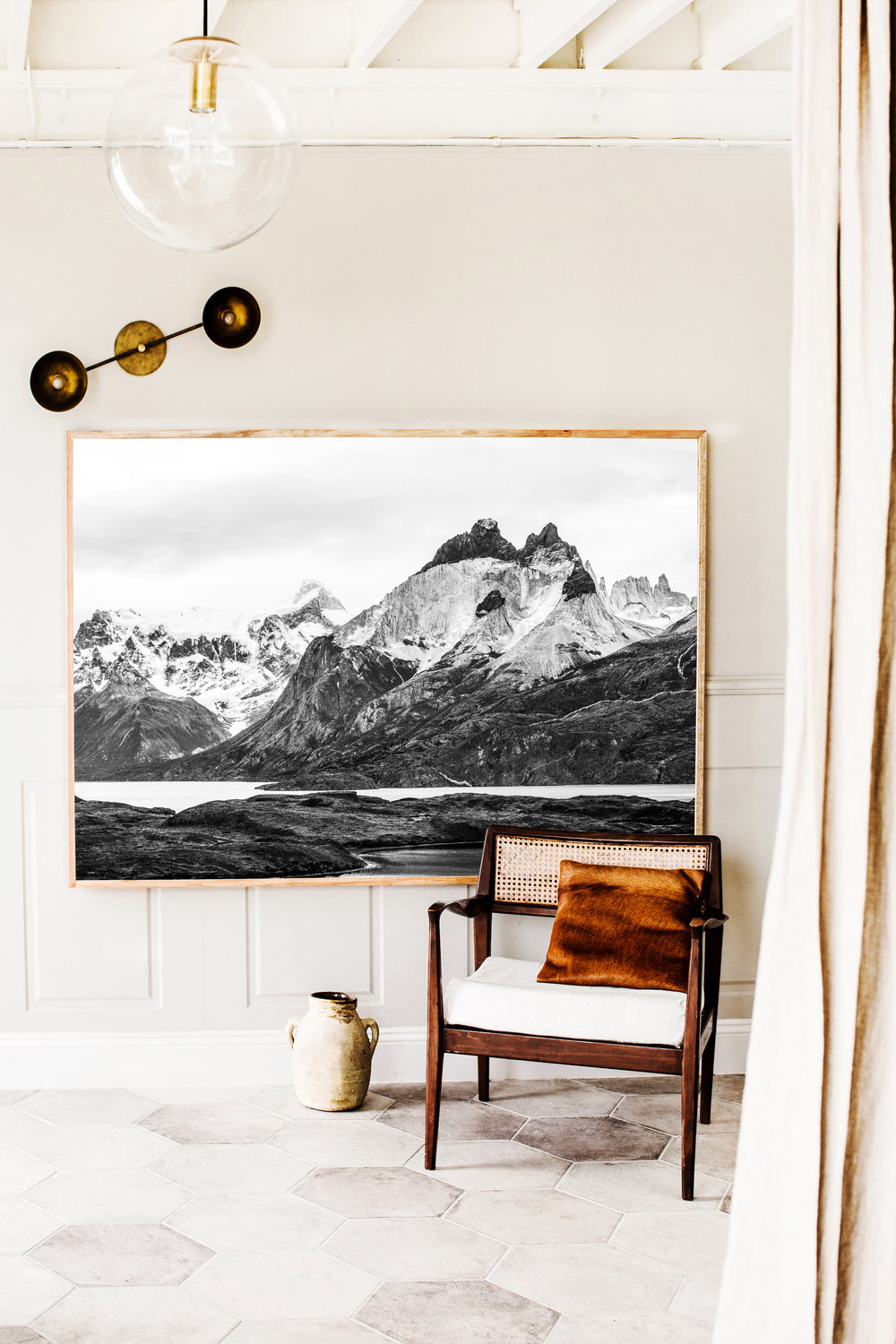 Patagonia Wilderness  Photographic print in Extra Large framed in Tasmanian Oak in Kara Rosenlund 's new Extra Large size.