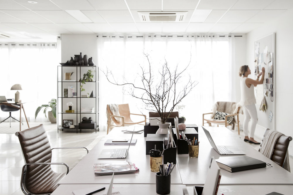 The  CULTIVER  studio in Sydney where Nicolle Sullivan and her team create pieces for the collection.