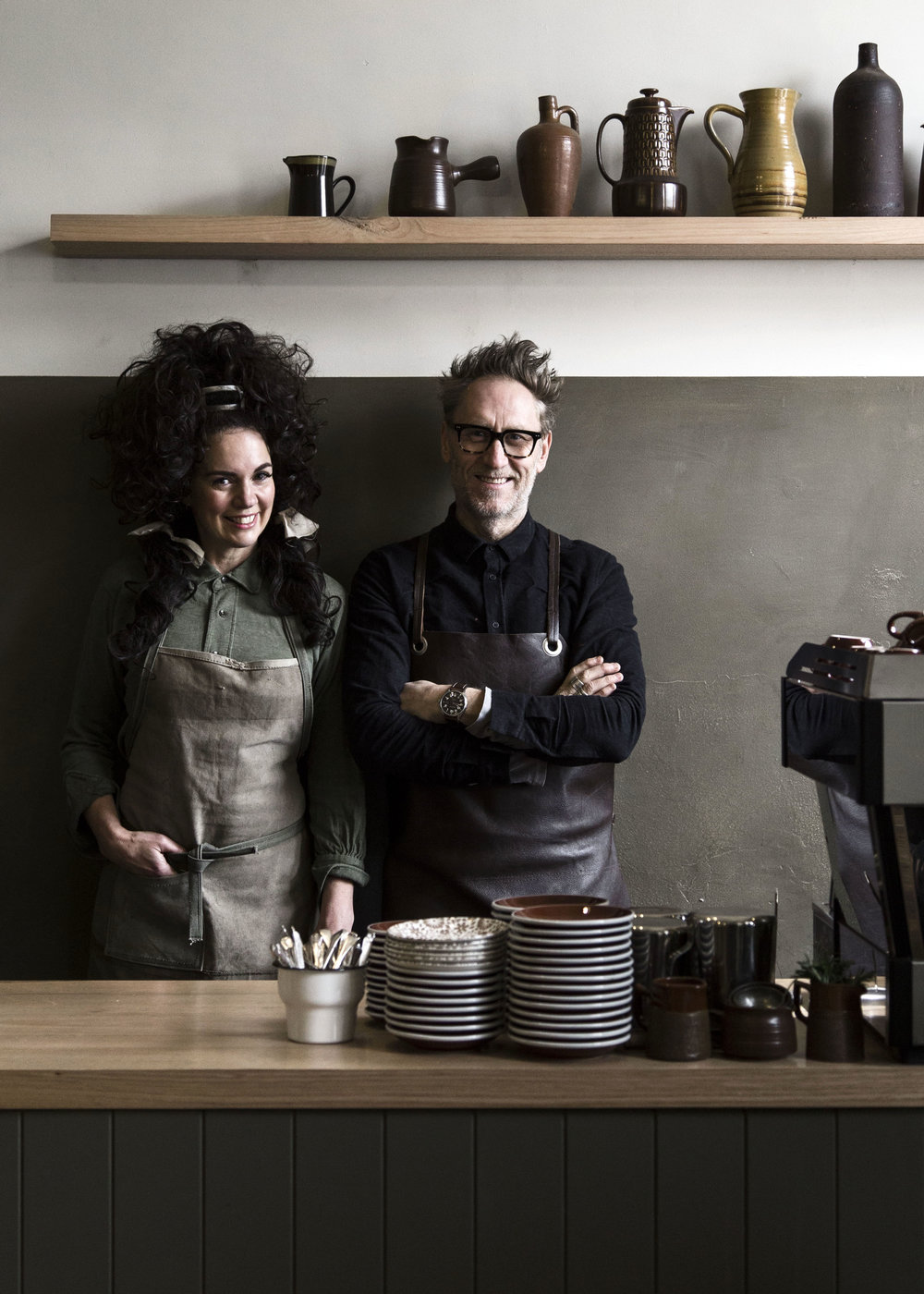 Lynda Gardener and her business (and life) partner Mark Smith. Photo  Danny Wootton .