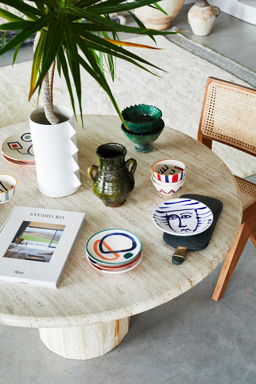 A collection of the ceramics in the new  Tigmi Trading  showroom. We're absolutely in love with the  LRNCE  side plates! Photo - Alicia Taylor.