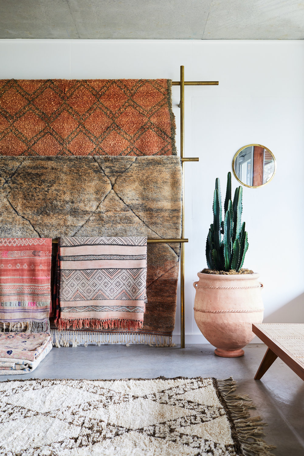A collection of the traditional and contemporary rugs in the  Tigmi Trading  showroom. Photo - Alicia Taylor.