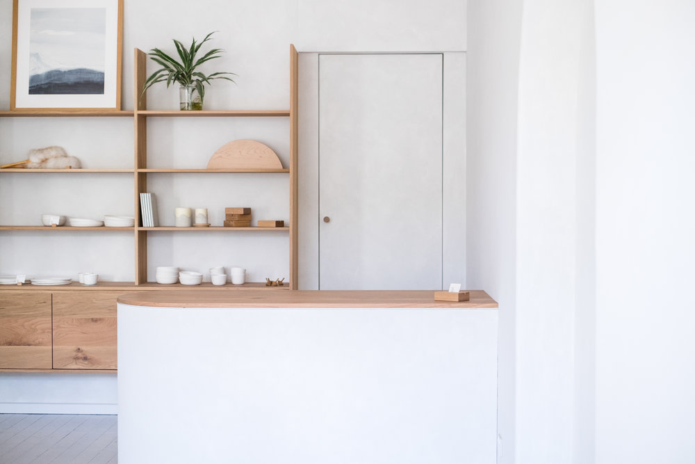 Nestled amongst other creatives such as Assembly Label, the new store breathes a fresh, natural palette signature to the  Mr and Mrs White  aesthetic.