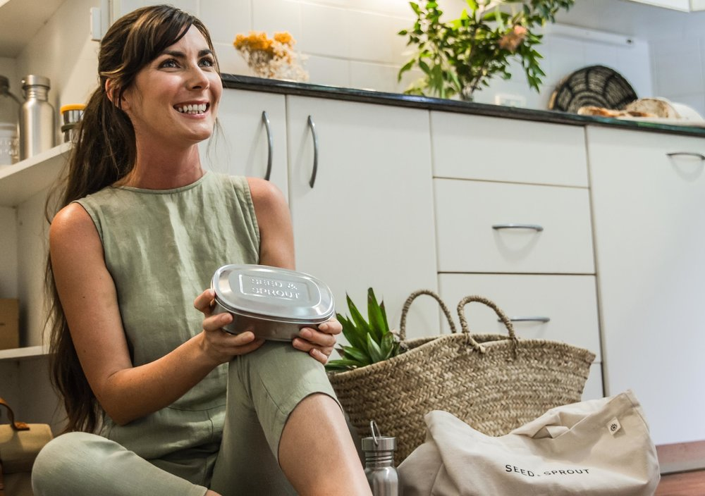 Seed & Sprout  founder Sophie Kovic's goal is to reduce reliance on single-use plastics by creating tools that help everyday people make healthy choices.
