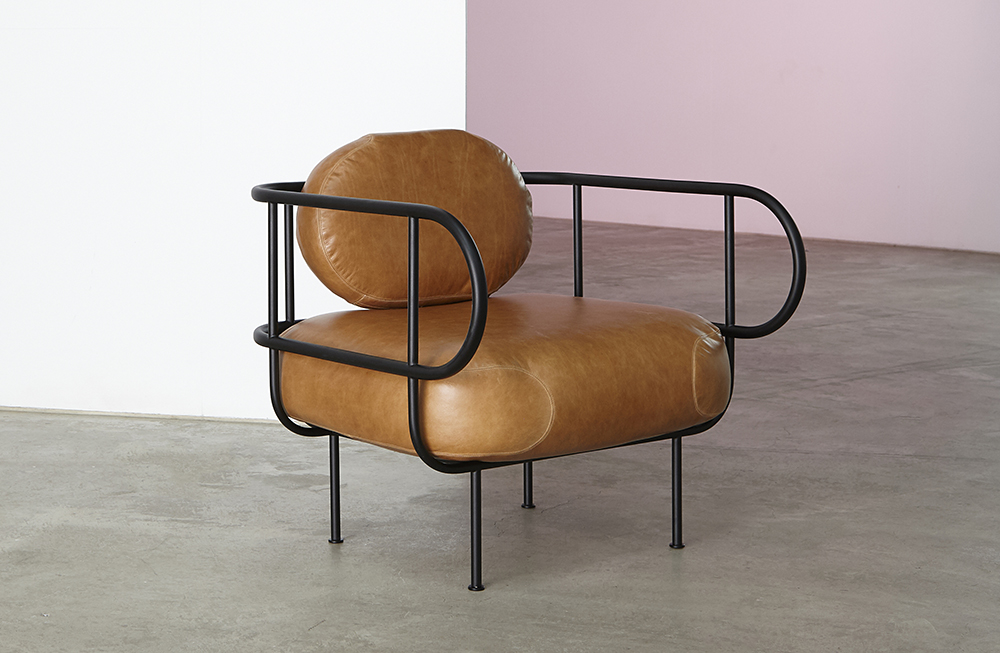 NAVE CHAIR designed by  SKEEHAN Studio  - with its slender frame, is an expression of nautical construction processes.