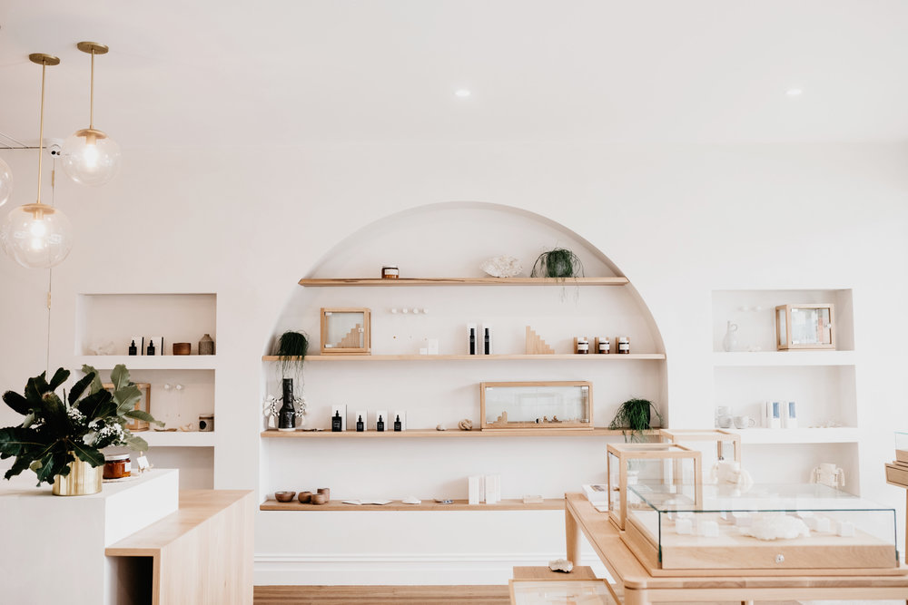 The  Natalie Marie Jewellery  studio in Avalon, Sydney where the interior is as beautiful as the jewellery pieces.