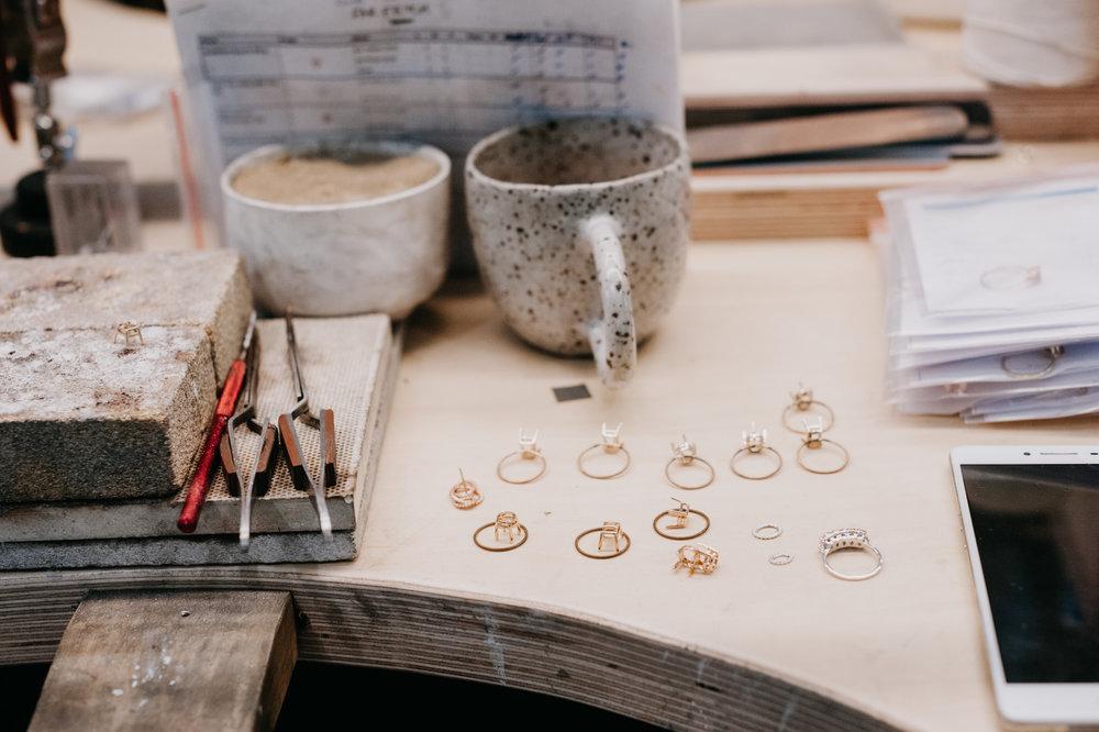The  Natalie Marie Jewellery  studio workshop in Avalon.